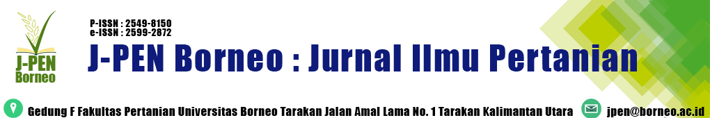 J-PEN Borneo : Jurnal Ilmu Pertanian